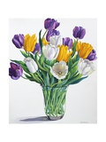 Tulips in Glass Vase Giclee Print by Christopher Ryland