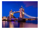 London Tower Bridge At Blue Hour Posters by Melanie Viola