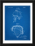 Leather Football Helmet Patent Prints