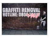 Graffiti Removal Posters by  Banksy