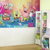 SpongeBob Squarepants XL Chair Rail Prepasted Mural Wallpaper Mural