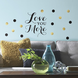 Love You More Quote Peel and Stick Wall Decals Wall Decal
