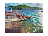 Two Boys on the Landing Stage,Teignmouth, 2015-16 Giclee Print by Andrew Macara