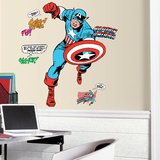 Classic Captain America Comic Peel and Stick Giant Wall Decals Wall Decal
