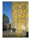 Double Yellow Lines Flower Kunstdruck von  Banksy