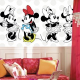 Minnie Rocks the Dots XL Chair Rail Prepasted Mural Wall Mural