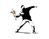 Flower Chucker Poster by  Banksy