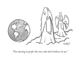 """""""I'm starting to prefer the ones who don't believe in me."""" - New Yorker Cartoon Giclee Print by Robert Leighton"""