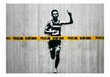 Do not cross Reproduction procédé giclée par  Banksy