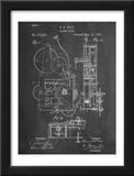 Vintage Alarm Clock Patent 1885 Poster