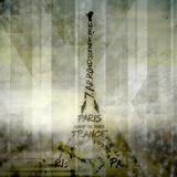 Digital-Art Paris Eiffel Tower - Geometric Mix No.1 Posters by Melanie Viola