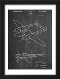 P-38 Airplane Patent Prints