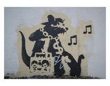 Ghetto Blaster Rat Plakater av  Banksy
