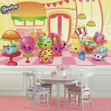 Shopkins XL Chair Rail Prepasted Mural Wallpaper Mural