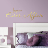 Happily Ever After Quote Peel and Stick Wall Decals Wall Decal