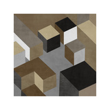 Cubic in Neutral I Giclee Print by Todd Simmions