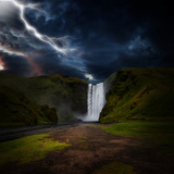 Skógafoss - Iceland Stampa su metallo di Philippe Sainte-Laudy