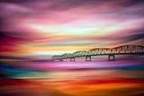 Long Bridge to Astoria Metal Print by Ursula Abresch