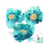 Aqua Trio II Giclee Print by Julia Bosco