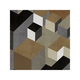 Cubic in Neutral II Giclee Print by Todd Simmions