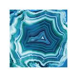 Agate in Aqua Giclee Print by Danielle Carson