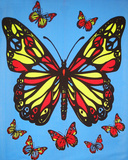 Butterflies Blacklight Tapestry Photo