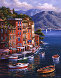 Villagio Del Porto Print by Sung Kim