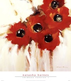 Crimson Poppies I Posters by Natasha Barnes
