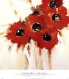 Crimson Poppies I Posters by Natasha Barnes