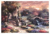 Sunset Garden Retreat Prints by James Lee