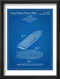 Surf Board Patent Poster