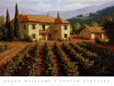 Tuscan Vineyard Posters by Roger Williams