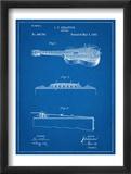 Acoustic Guitar Patent Plakater