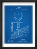 Boat And Oar Patent Poster