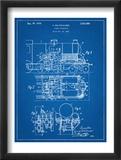 Steam Locomotive Patent Plakaty