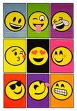 Emoji Nine Blacklight Poster Reprodukcje