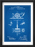 Thomas Edison Speaking Telegraph Patent Plakat