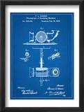 Thomas Edison Speaking Telegraph Patent Umění