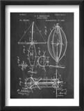 Steampunk Aerial Vessel 1893 Patent Reprodukcje