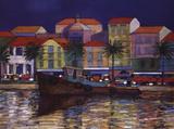 Riverside Promenade Print by Michael Grimsdale