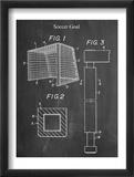 Soccer Goal Patent Plakaty