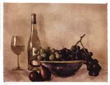 Fruit And Wine I Print by Judy Mandolf