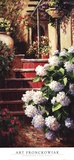 Hydrangea Steps Right Posters by Art Fronckowiak