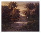 Lagoon At Daybreak Art by Montoya