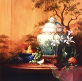Oriental Orange Art by Art Fronckowiak