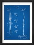 Dinner Fork Patent Plakaty