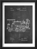 Train Locomotive Patent Kunstdrucke