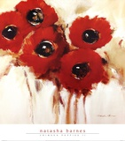 Crimson Poppies II Posters by Natasha Barnes