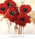 Crimson Poppies II Posters by Natasha Barnes