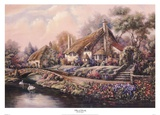Village Of Selworthy Print by Carl Valente